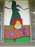 Alice Mural 2 by Animikean