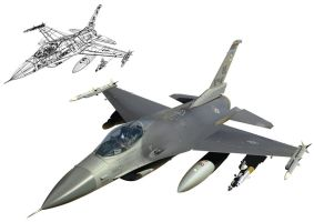 F-16 Fighting Falcon by Panzerion