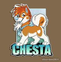 Badge Commission: Chesta by SilverDeni