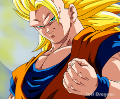 Goku Super Saiyan 3 by Jeff-Dragons