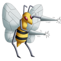 Pokedex 015: Beedrill- Fury Attack by izka197