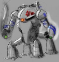 another mech sketch by GreatGrendel