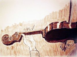 The Sepia Violin (excerpt sketch pad) by CpointSpoint