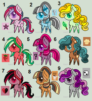 Chibi ponies patch 2 - 5 points each :OPEN: by xRainbow-adoptsx