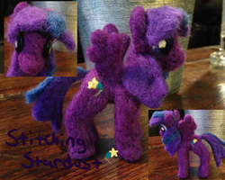 Stitching Stardust Needle Felt by the-pink-dragon