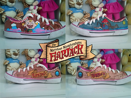 Flapjack shoes by duckie-derp