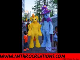 MLP Suits Spitfire and Trixi at Cosdays by AtalontheDeer
