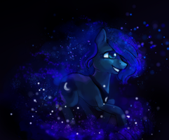 Luna: Day as an earth pony by ElkaArt