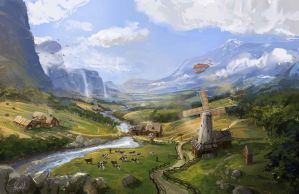 Fantasy Countryside by JonathanP45