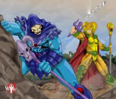 Skeletor-VS-Serpentor by WiL-Woods