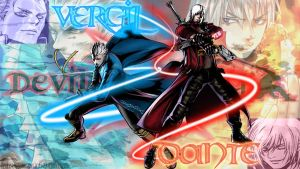 Devil May Cry-Twins Wallpaper by PPGDBlossom