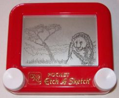 Etch a Sketch- Lion by jivu