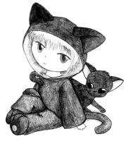 Boy and Cat by opiel16