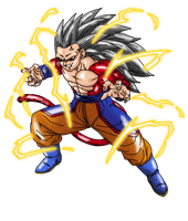 Goku True SSJ4 Render by Nassif9000