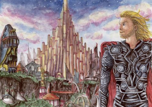 Thor -  Asgard by Mobicca