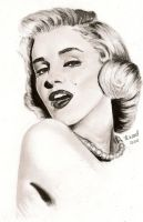 Marilyn Monroe Pencil Portrait by heatherw290
