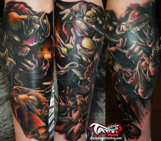 TURTLES NINJA TATTOO by magicstattoostudio