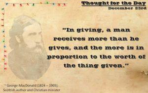 Thought for the Day - December 23rd by ebturner