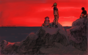 -Team 7.5- Red Sky by lauraneato