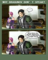Why Dragunov don't speak? by ShadowxSiegfried