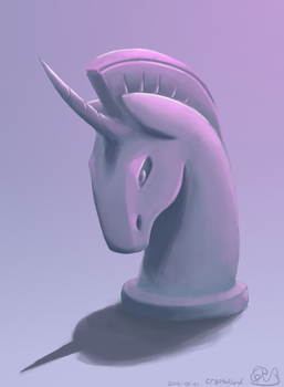 Sketch: Pony Statue Bust by Meater6