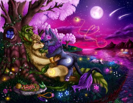 Blossoming Night, Song of Love by Nightforest