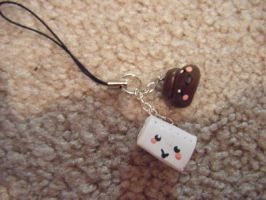 Poop and toilet paper charms by minecraftfox
