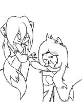 Eade and Bramblestar chibi sketch request by SleeplesslyDreaming