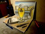 3D Drawing - Beer Cafe by NAGAIHIDEYUKI