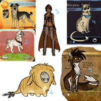 Old Characters for sale by jealousapples