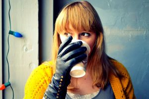 Gloves and a Coffee Cup by UrbanChild