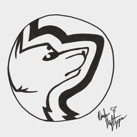 Tribal Wolf Head by Ice-Artz