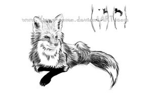 Tattoo - fox by Izz-noxfox