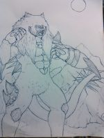 Shaka Molimo Ink Sketch by Lycan-metal