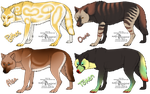 Wolf Adopts [All available!] by ShadowDAdopts