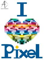 i love pixel by AlaasDesigns