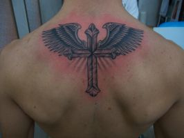 classic cross with wings by marcossangre