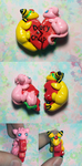 Mew and Ampharos Heart Charms by KingMelissa