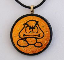 Fused Glass Goomba by FusedElegance