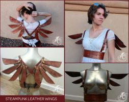 Steampunk Leather Wings by JAFantasyArt