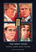 Doctor WHO 50th Anniversary Tribute Doctors 5-8 by MJasonReed