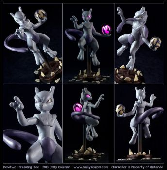 Commission : Mewtwo, Breaking Free by emilySculpts