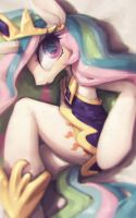 Princess Celestia by fralininin