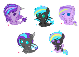 Foals for SilverRomance :CLOSED: by fauna20