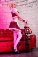 Lollipop Chainsaw maid costume by Jane-Po