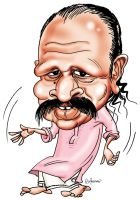 Sippy Pallippuram caricature by orioncreatives