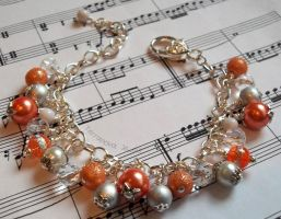 Orange and silver bracelet by TerraNovaJewels