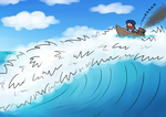 Just catching the waves by Foxelbox