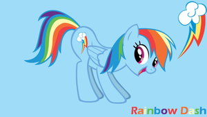 MLP: Rainbow Dash Fun Background by SweetCandace