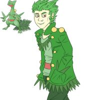 Humanized Sceptile Sketch by TheDeepestKing